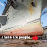 If you think aircraft carriers seem huge from the flight deck, wait until you get a look underneath one